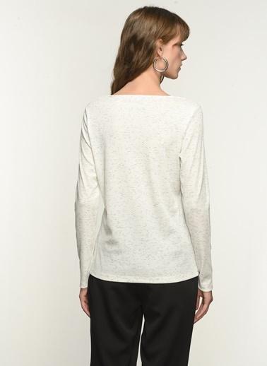 NGSTYLE Ngkaw21Bl0004 Uzun Kollu Bluz Beyaz